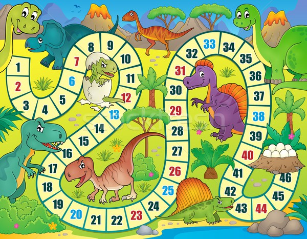 Board game with dinosaur theme 1 Stock photo © clairev