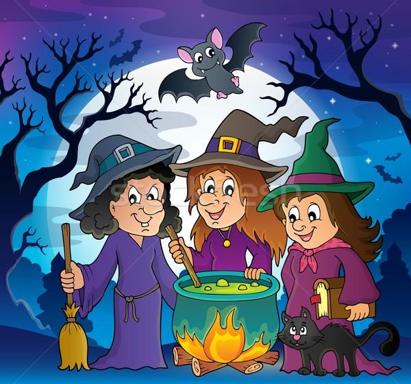 Three witches theme image 3 Stock photo © clairev