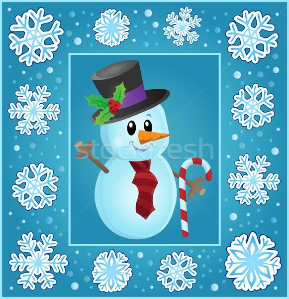Christmas subject greeting card 8 Stock photo © clairev