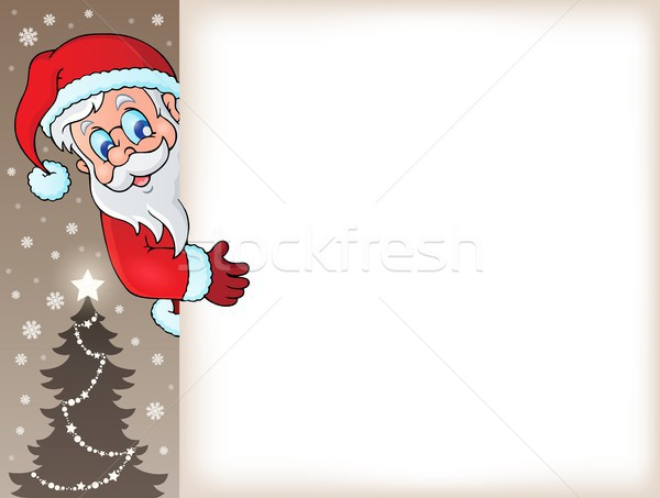 Lurking Santa Claus with copyspace 5 Stock photo © clairev