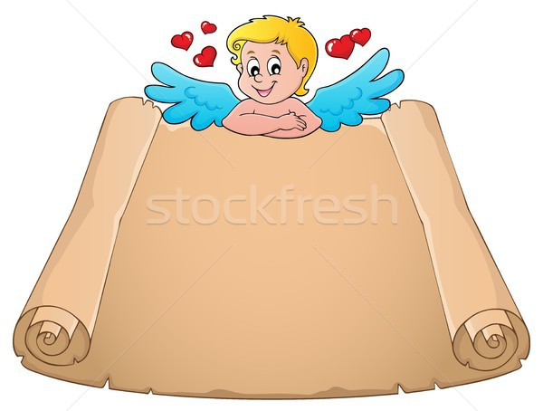 トピック 羊皮紙 紙 幸せ 翼 図面 ストックフォト © clairev