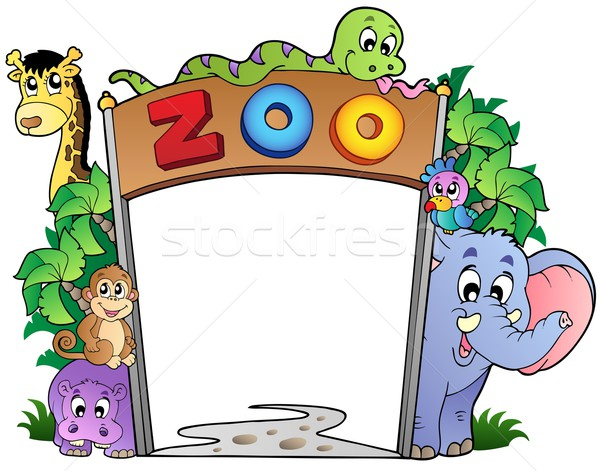 Zoo entrée animaux nature design Photo stock © clairev
