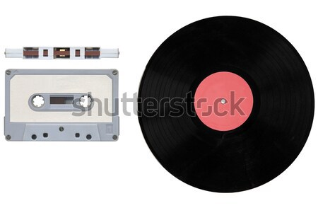 Tape cassette and record Stock photo © claudiodivizia