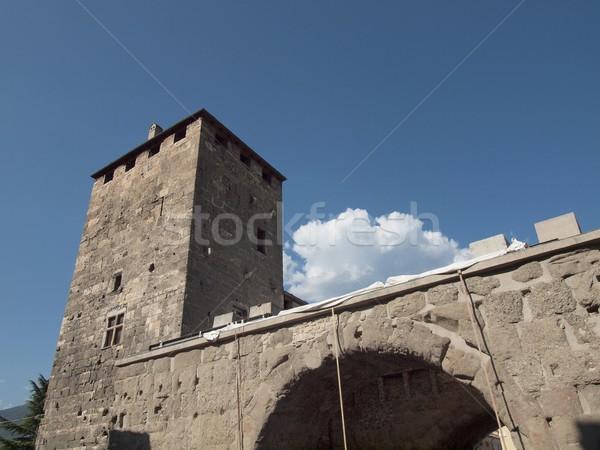 Porte pretorienne Aoste Stock photo © claudiodivizia