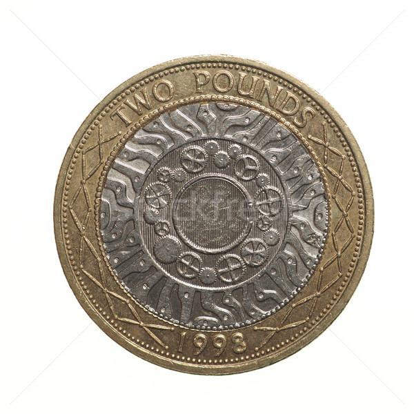 Pound coin - 2 Pounds Stock photo © claudiodivizia