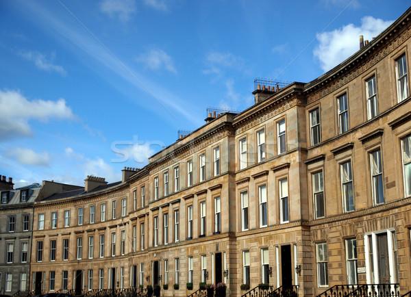 Evler Glasgow batı son İskoçya Stok fotoğraf © claudiodivizia