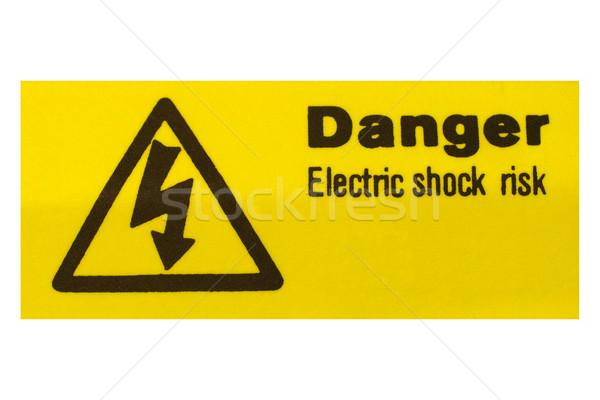 Elektromos rázkódás felirat kockázat energia elektromosság Stock fotó © claudiodivizia