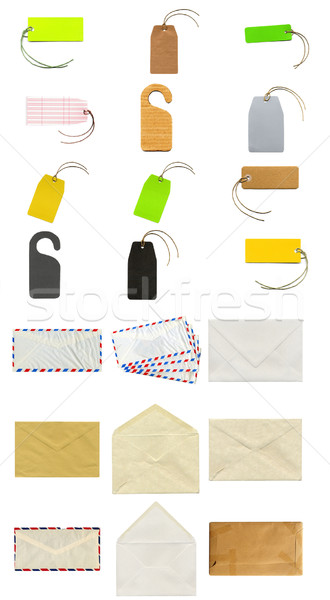 Schrijfbehoeften collage business papier Stockfoto © claudiodivizia