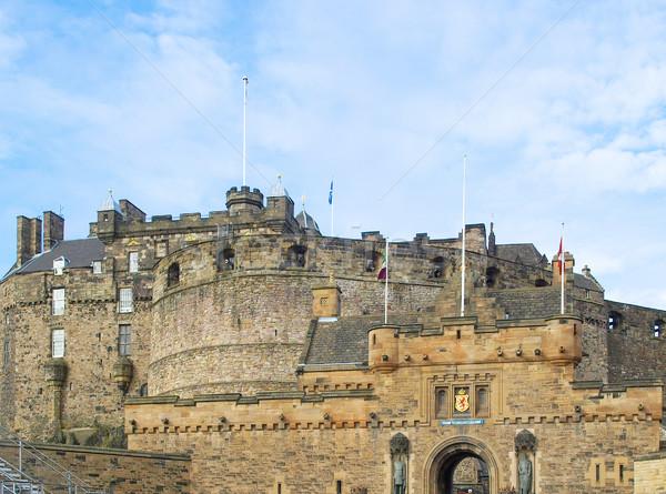 Edinburgh kép kastély Skócia Nagy-Britannia Egyesült Királyság Stock fotó © claudiodivizia