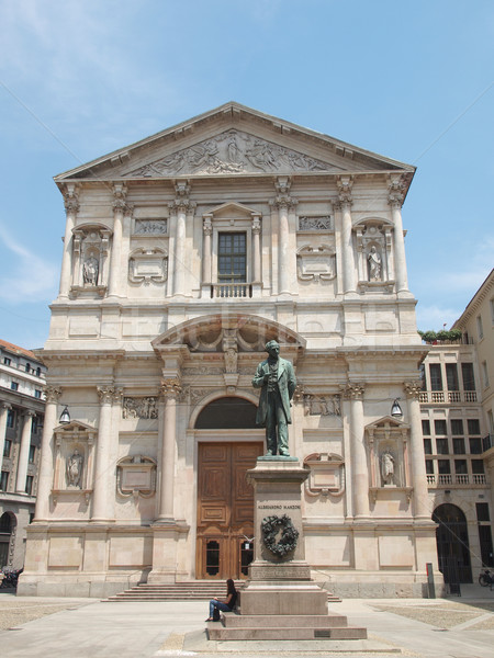 Kerk milaan Italië vintage Europa godsdienst Stockfoto © claudiodivizia