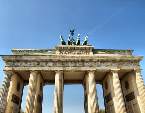 Stock fotó: Berlin · Brandenburgi · kapu · híres · tájékozódási · pont · Németország · magas
