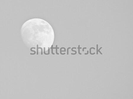Telihold kék ég űr éjszaka csillag sötét Stock fotó © claudiodivizia
