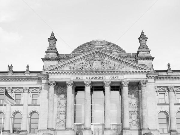 Berlín casas parlamento Alemania blanco negro negro Foto stock © claudiodivizia