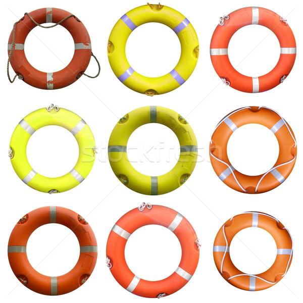 Collage bouée de sauvetage sécurité mer océan Voyage Photo stock © claudiodivizia