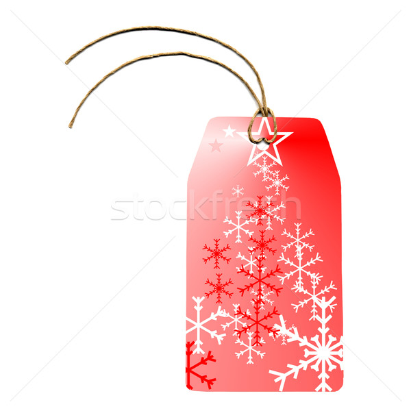 Tag etichetta carta adesivo business Natale Foto d'archivio © claudiodivizia