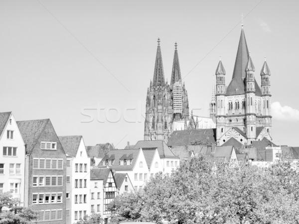 Kilátás város parfüm Németország magas dinamikus Stock fotó © claudiodivizia