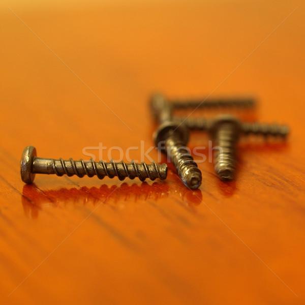 Hardver ipari acél fa dolgozik asztal Stock fotó © claudiodivizia