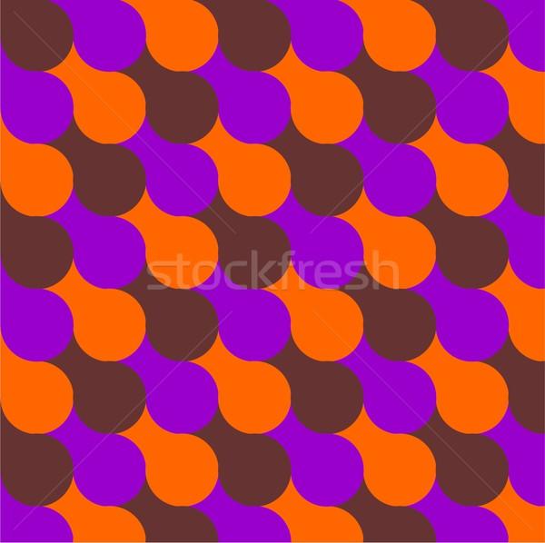 Sixties stijl psychedelic illustratie nuttig achtergrond Stockfoto © claudiodivizia