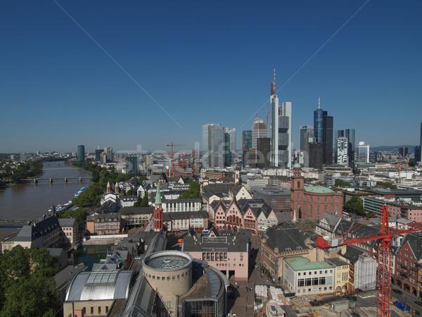 Stockfoto: Frankfurt · hoofd- · Duitsland · luchtfoto · stad