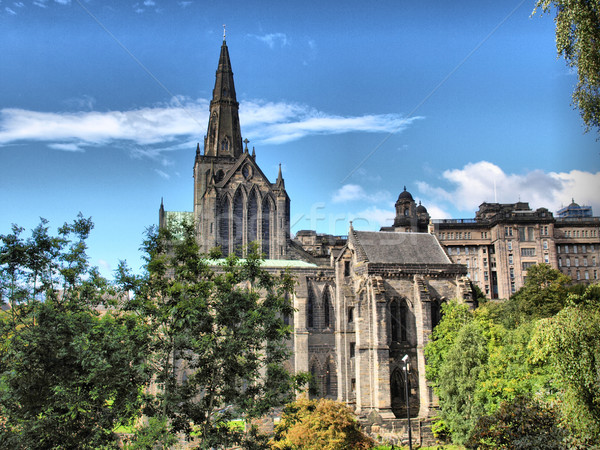 Glasgow katedrális hdr magas dinamikus terjedelem Stock fotó © claudiodivizia