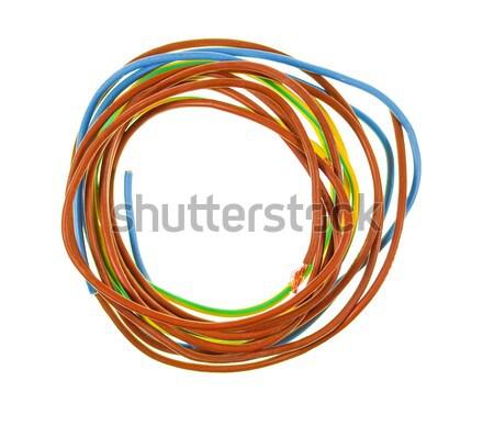 Elektrische Draht Detail Drähte Kabel Stock foto © claudiodivizia