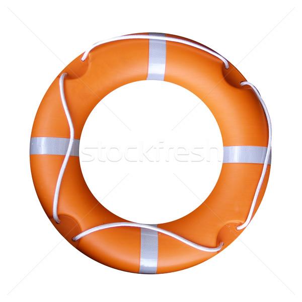 Cankurtaran simidi yalıtılmış turuncu su deniz göl Stok fotoğraf © claudiodivizia