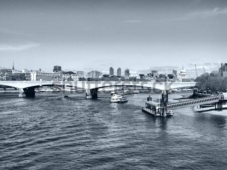 Folyó Temze London panorámakép kilátás magas Stock fotó © claudiodivizia