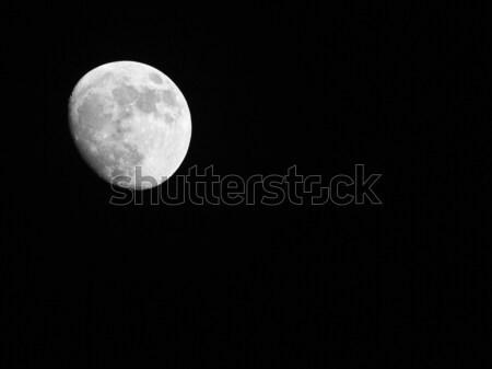 Volle maan hemel ruimte nacht star donkere Stockfoto © claudiodivizia