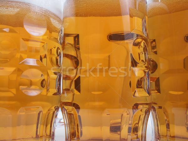 Világos sör sör sok nagy szemüveg Stock fotó © claudiodivizia
