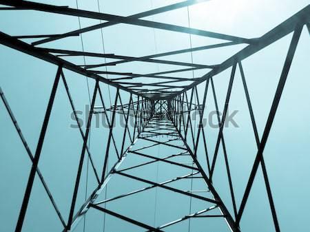 Line Turm Jahrgang schauen elektrische Retro Stock foto © claudiodivizia