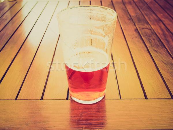 Retro aussehen Bier Jahrgang schauen groß Stock foto © claudiodivizia