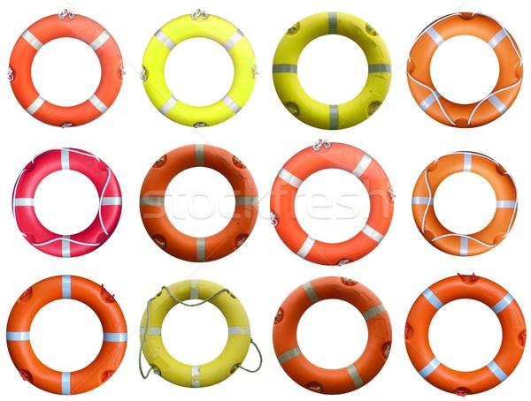 Collage Rettungsring Sicherheit Meer Ozean Reise Stock foto © claudiodivizia