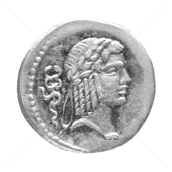 Stockfoto: Romeinse · munt · oude · geïsoleerd · witte · geld