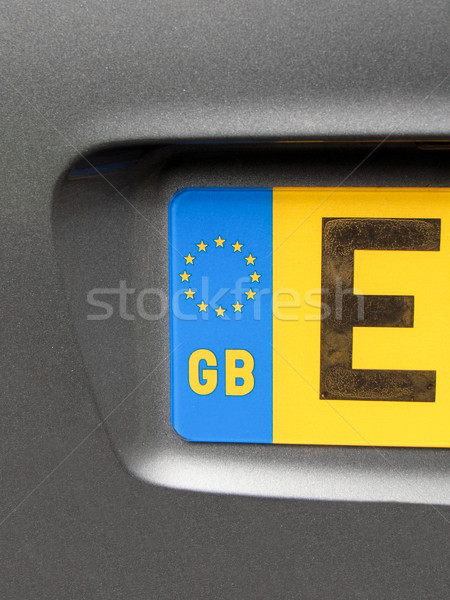 Vehicle registration plate Stock photo © claudiodivizia