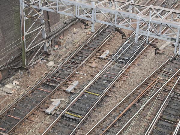 Spoorweg trein vervoer reizen metro Stockfoto © claudiodivizia