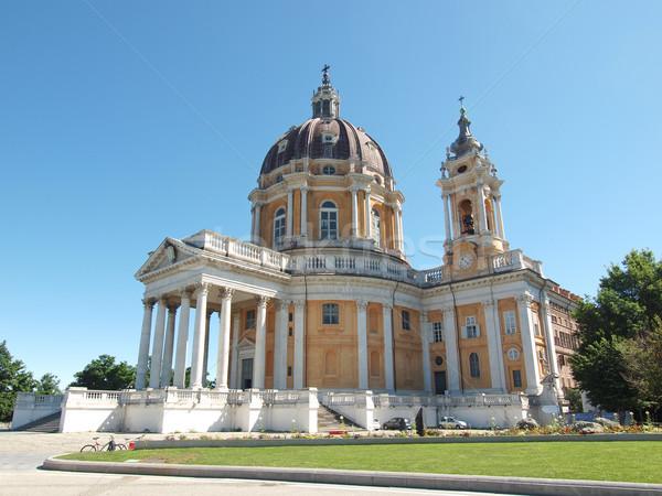 Basiliek Italië oude barok abdij Stockfoto © claudiodivizia
