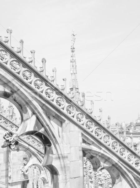 Milan gótico catedral igreja Itália Foto stock © claudiodivizia