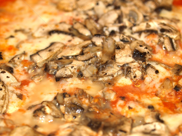 Photo stock: Champignons · pizza · italien · tomate · fromages · utile