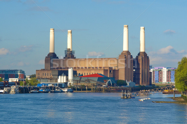 Лондон электростанция Англии здании город дизайна Сток-фото © claudiodivizia