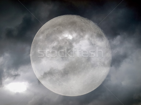 Stormy weather moon Stock photo © claudiodivizia