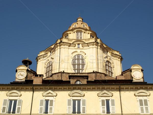Torino barocco chiesa torino blu architettura Foto d'archivio © claudiodivizia