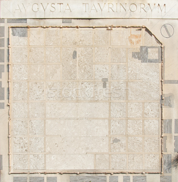 Roman Wall, Turin Stock photo © claudiodivizia