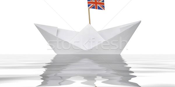 Paper boat Stock photo © claudiodivizia