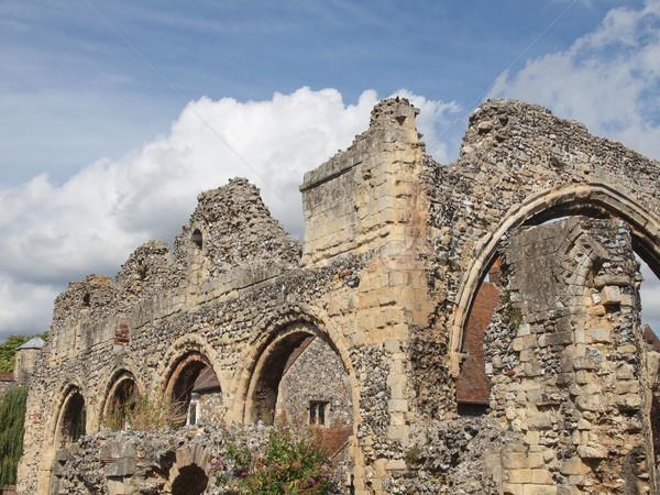 Apátság romok templom retro klasszikus Európa Stock fotó © claudiodivizia