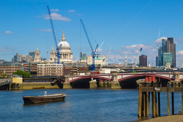 Folyó Temze London panorámakép kilátás város Stock fotó © claudiodivizia