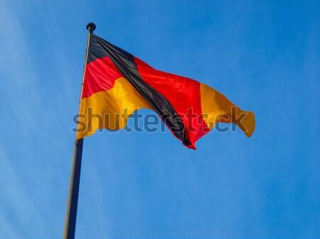 Deutschland Niederlande Flagge Fahnen blauer Himmel Welt Stock foto © claudiodivizia