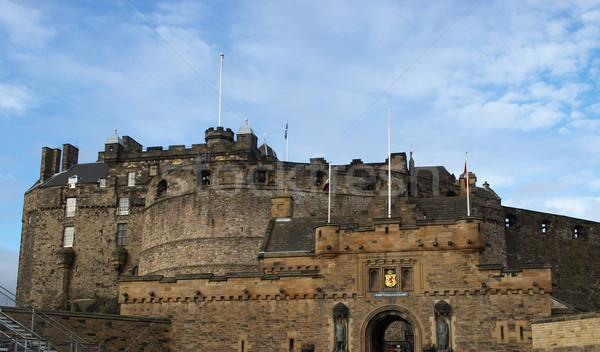 Эдинбург замок Шотландии Великобритания Великобритания строительство Сток-фото © claudiodivizia