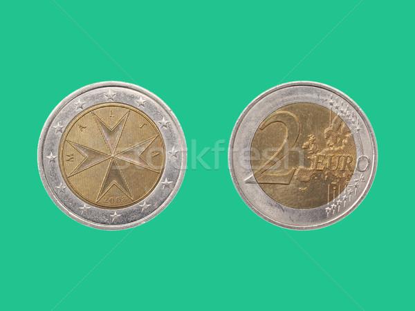 Euro moeda Malta dois república europa Foto stock © claudiodivizia