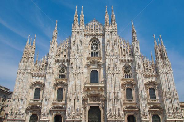 ミラノ ミラノ ゴシック 大聖堂 教会 イタリア ストックフォト © claudiodivizia