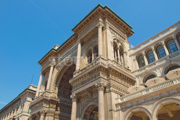 Milaan Italië retro architectuur vintage Europa Stockfoto © claudiodivizia